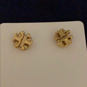 Tory Burch T Logo Earrings, Gold